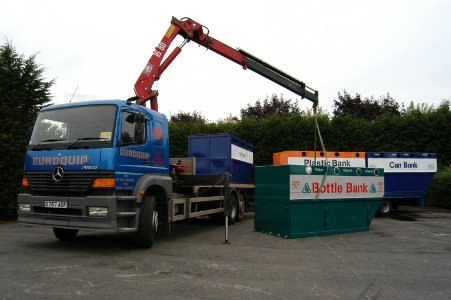 Lorry Lifting Bottle Bank