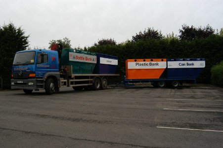 Lorry Loaded with Recycling Banks